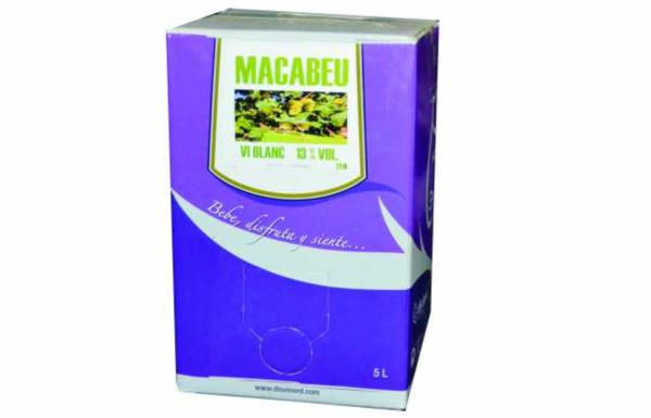 5 LT BLANC MACABEU 13º  BAG IN BOX