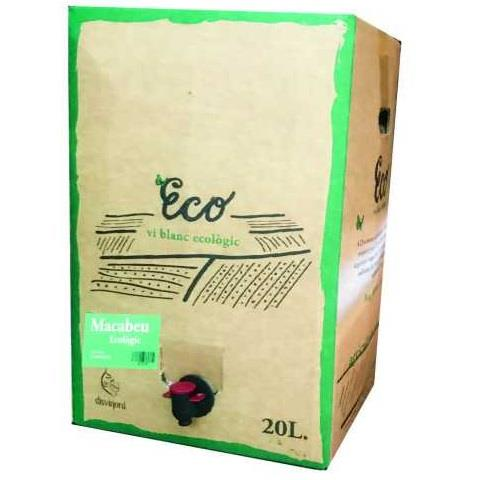 20 LT BLANC MACABEU  BAG IN BOX  ECOLOGIC