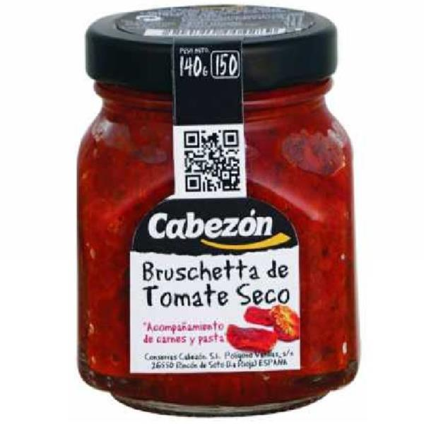 BRUSCHETTA DE TOMATE SECO 150 ML. CABEZON