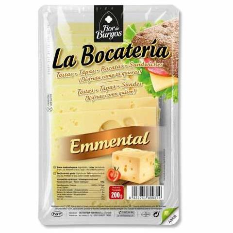 LLESQUES EMMENTAL 100 GRS BOCATERIA