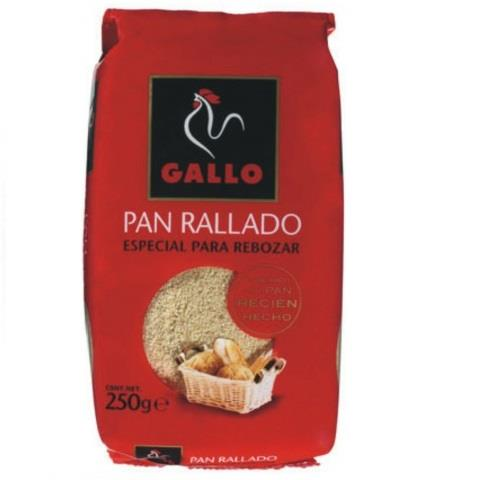 GALLO PAN RALLADO 250 GRS C/32