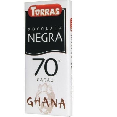 REF 14 CHOCOLATE NEGRO 70% CACAO 125GR. C/20